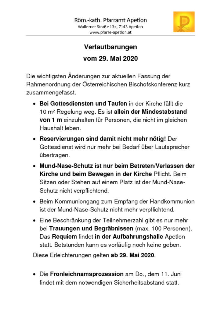 thumbnail of Gottesdienstordnung und Verlautbarungen_20200528