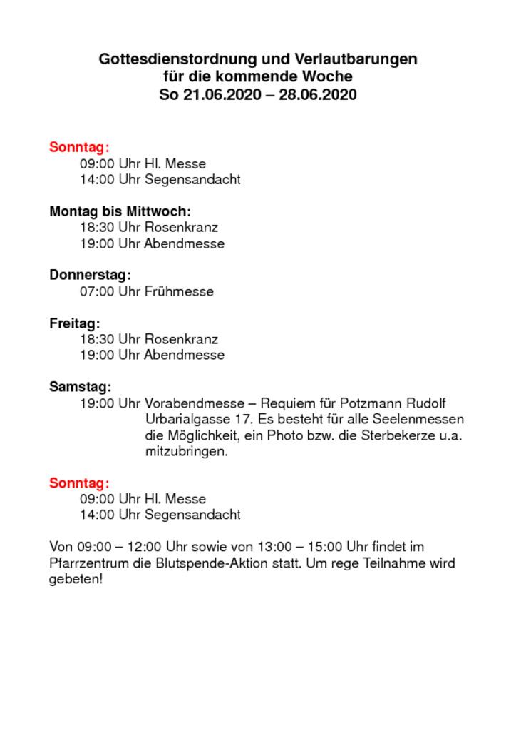 thumbnail of Gottesdienstordnung und Verlautbarungen_20200621
