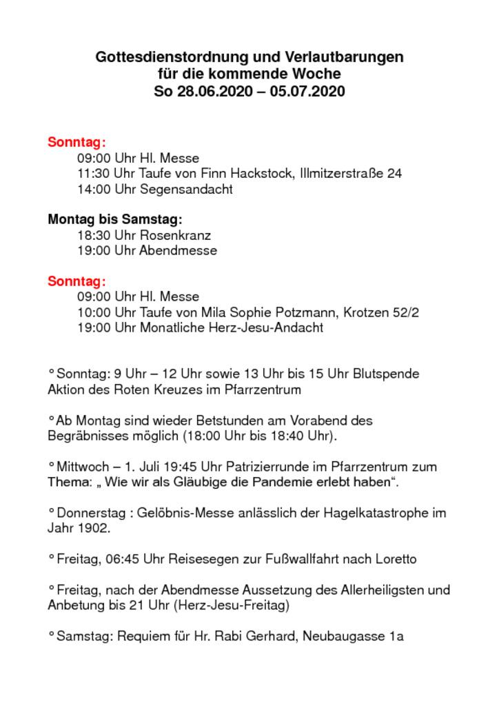 thumbnail of Gottesdienstordnung und Verlautbarungen_20200627