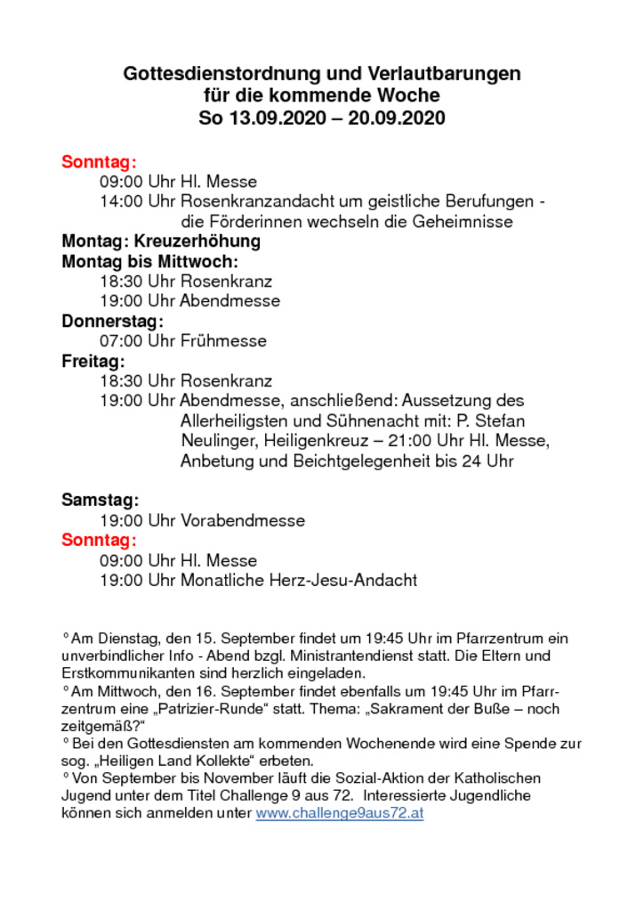 thumbnail of Gottesdienstordnung und Verlautbarungen_20200913